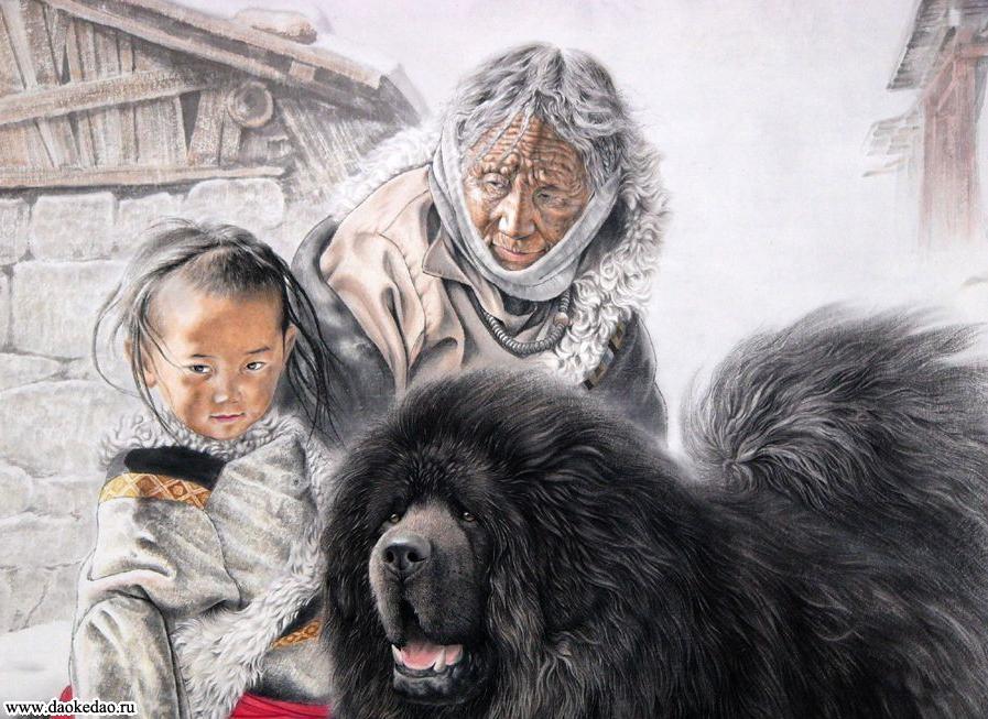 Как рисовать тибет